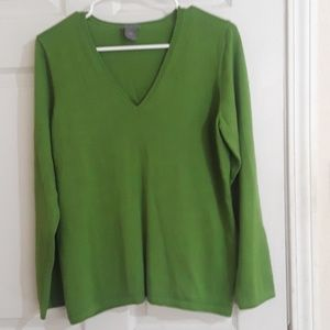 Lime green AnnTaylor extra large sweater with a v